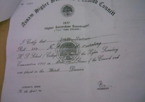 Fake Certificate for use in Assam | Assam Times