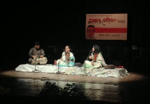 Sunita Bhuyan performing at Rabindra Bhawan