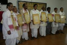 Felicitation of Artists working to preserve and promote Sankari culture