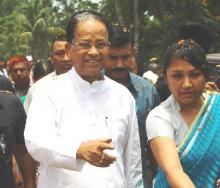 Gogoi laids foundation of hospital and road at Khumtai